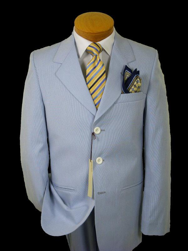Boy's Suit 1613 Blue Pincord Boys Suit Perry Ellis
