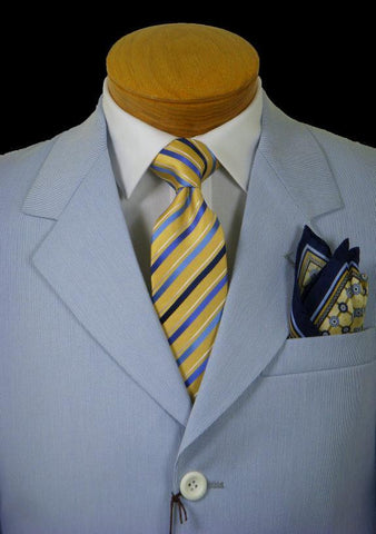 Image of Boy's Suit 1613 Blue Pincord Boys Suit Perry Ellis