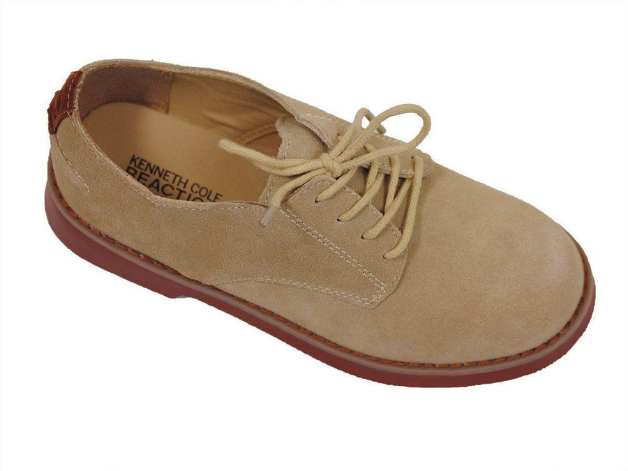 Kenneth Cole 16197 100% Leather Boy's Shoe - Nubuck Finish - Sand Boys Shoes Kenneth Cole