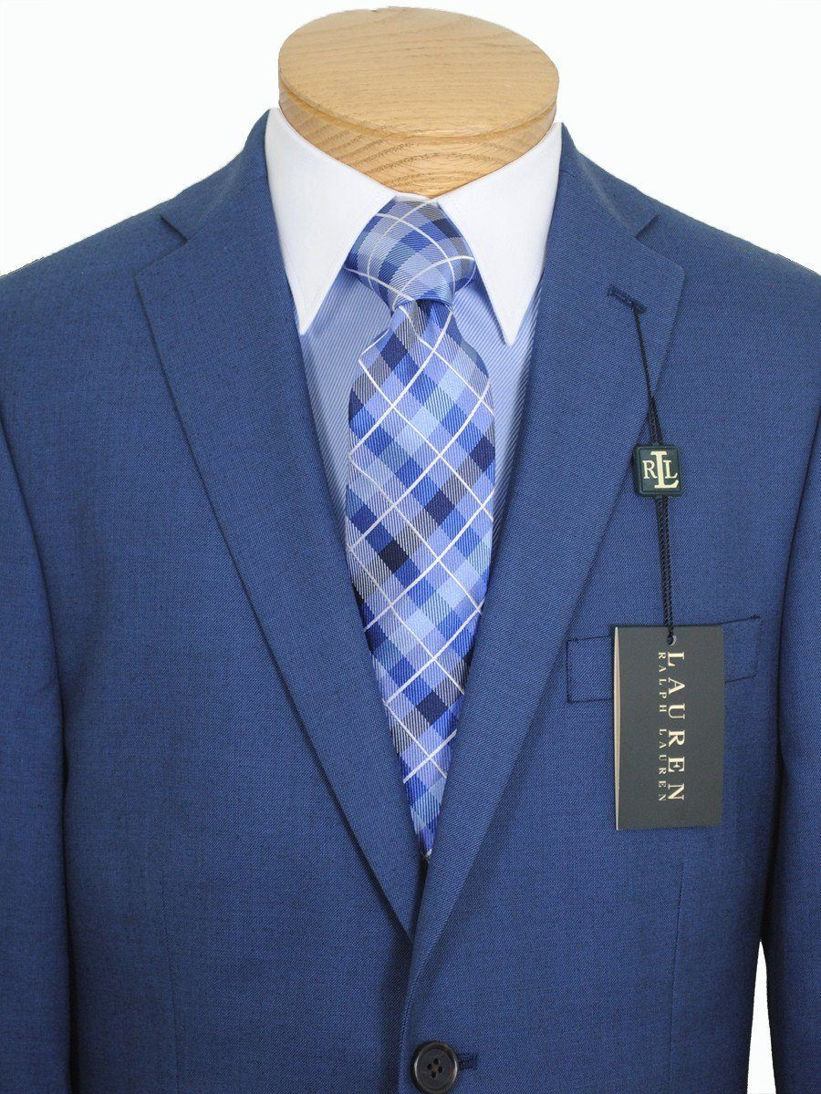 Lauren Ralph Lauren 16268 Medium Blue Boy's Suit Separate Jacket - Solid Gabardine - 65% Polyester / 35% Rayon Boys Suit Separate Jacket Lauren
