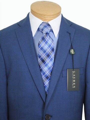 Image of Lauren Ralph Lauren 16268 Medium Blue Boy's Suit Separate Jacket - Solid Gabardine - 65% Polyester / 35% Rayon Boys Suit Separate Jacket Lauren