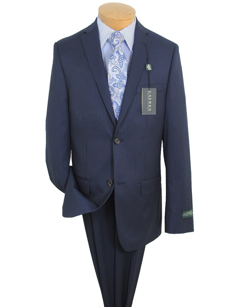 Lauren Ralph Lauren 16275 Navy Boy's Suit Separate Jacket- Stripe - 65% Polyester / 35% Rayon Boys Suit Separate Jacket Lauren