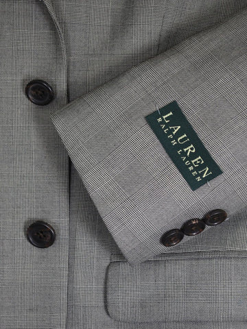 Image of Lauren Ralph Lauren 16282 Grey Boy's Suit Separate Jacket - Glen Plaid - 65% Polyester / 35% Rayon Boys Suit Separate Jacket Lauren