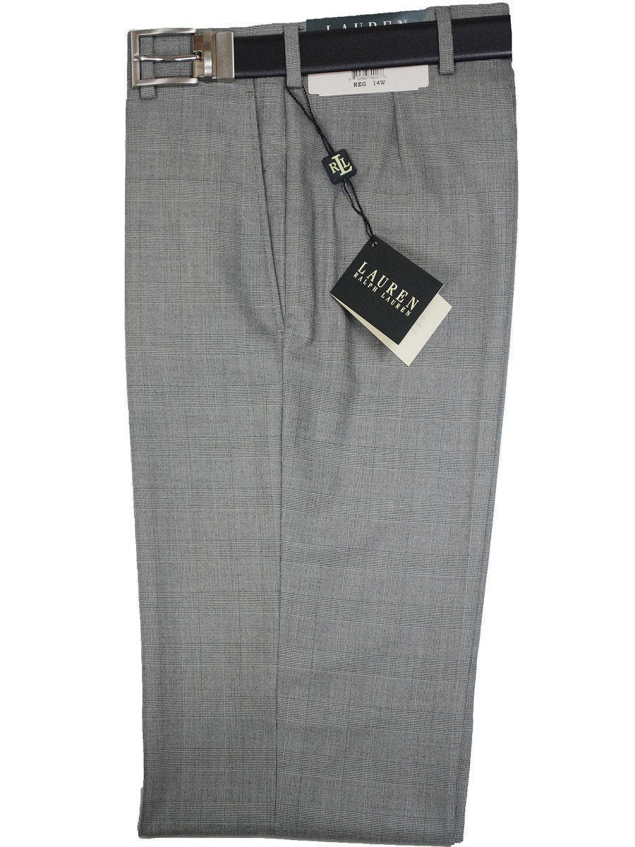 Lauren Ralph Lauren 16282P Grey Boy's Suit Separate Pant - Glen Plaid - 65% Polyester / 35% Rayon Boys Suit Separate Pant Lauren