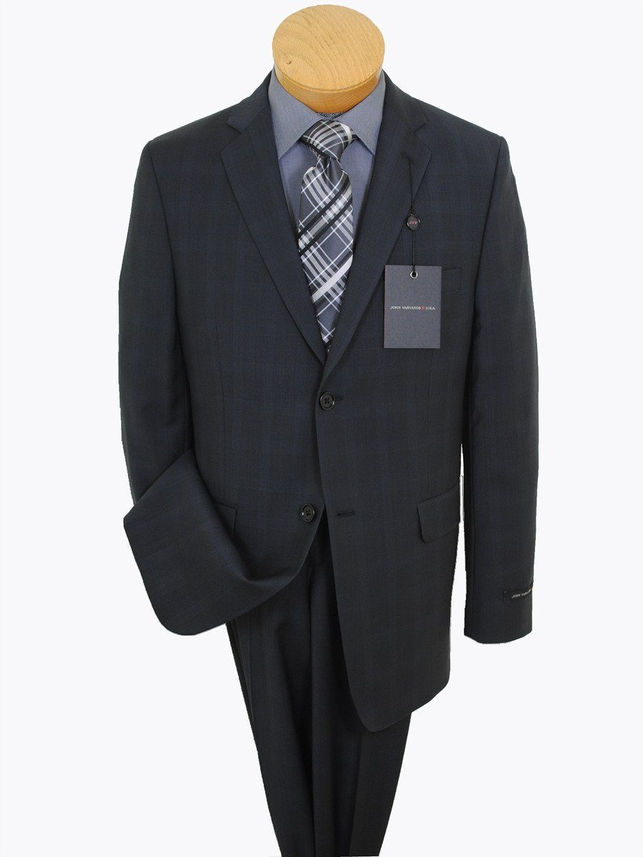 John Varvatos 16332 Smokey Black Boy's Suit - Plaid - 100% Tropical Worsted Wool - Lined Boys Suit John Varvatos
