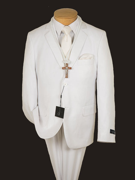 David Oliver 16389 Boy's Suit-White-Solid
