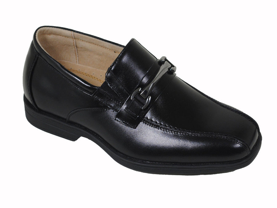 Florsheim 16480 Black Boy's Dress Shoes - Bit Loafer - Bicycle Toe- Leather Boys Shoes Florsheim