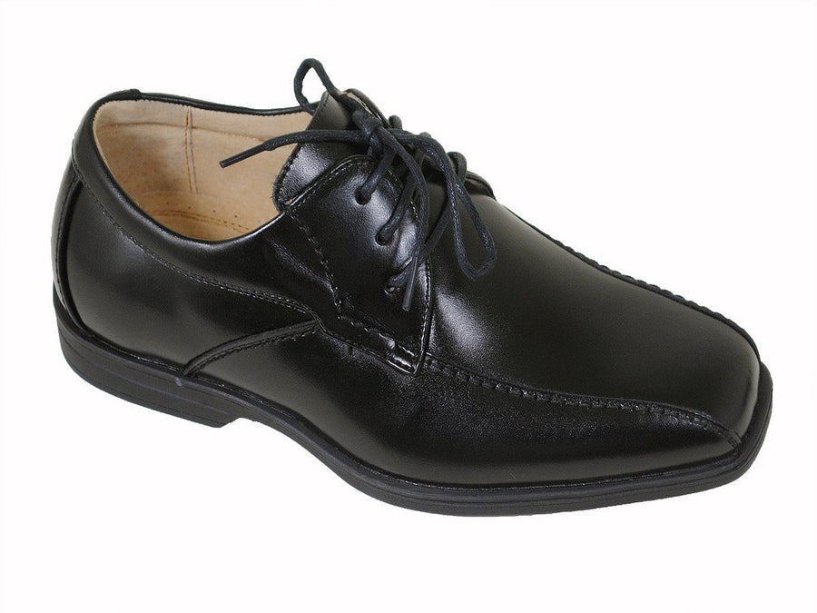Florsheim 16493 Black Boy's Dress Shoes - Oxford - Bicycle Toe - Leather Boys Shoes Florsheim