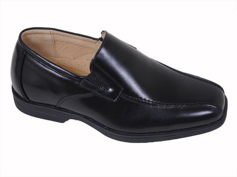 Florsheim 16506 Black Boy's Dress Shoes - Slip On - Bicycle Toe - Leather Boys Shoes Florsheim