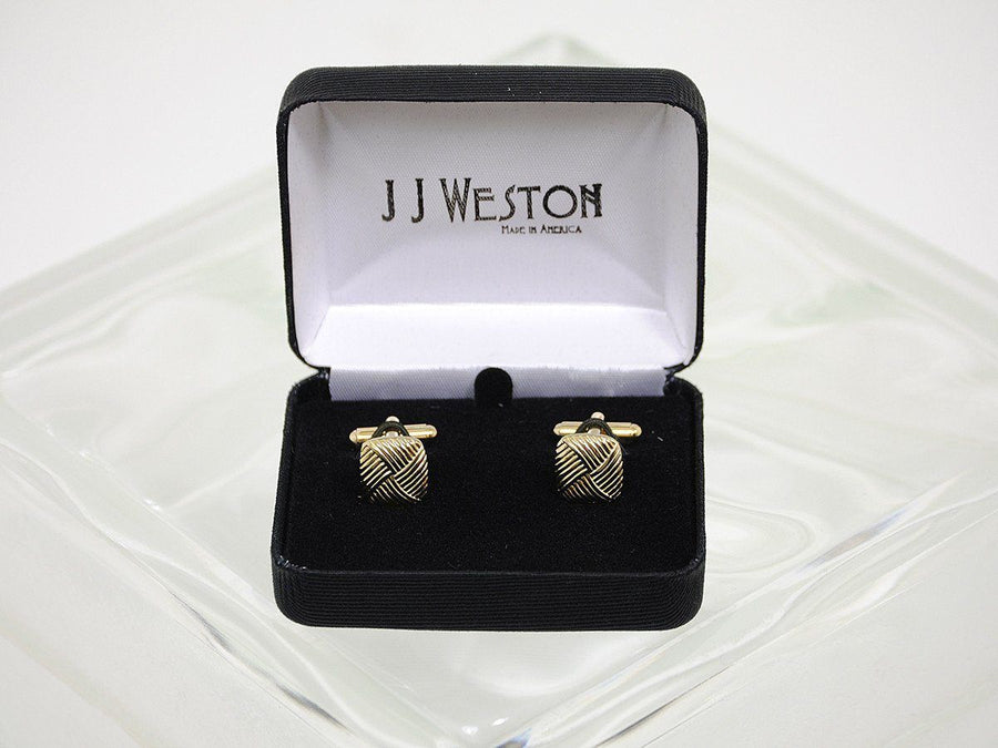 Boy's Cuff Links 16582 Gold Boys Cufflinks J.J. Weston