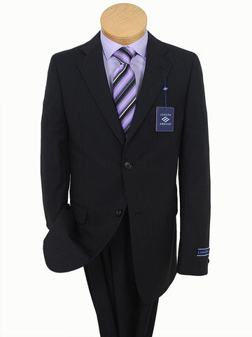 Image of Boy's Suit 16641 Black Stripe Boys Suit Joseph Abboud