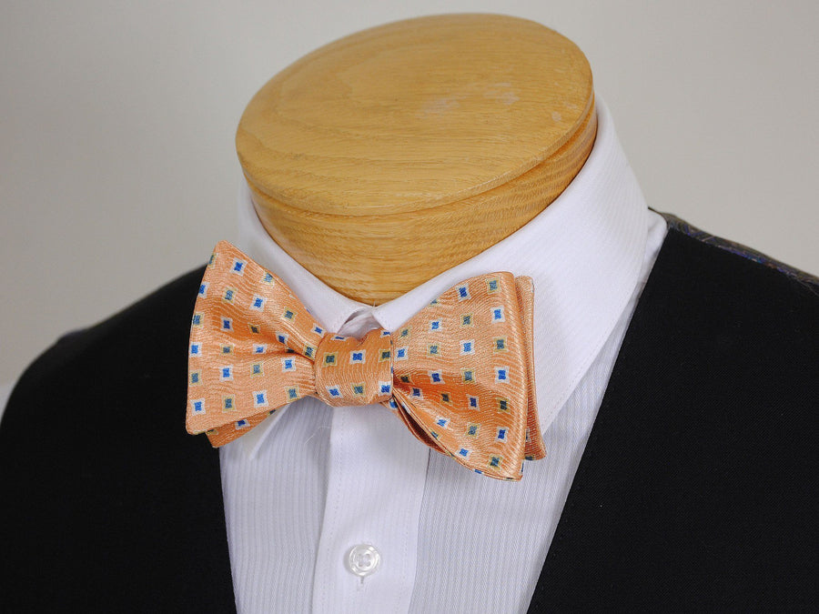 Boy's Bow Tie 16670 Peach/Blue/Green Neat Boys Bow Tie Heritage House