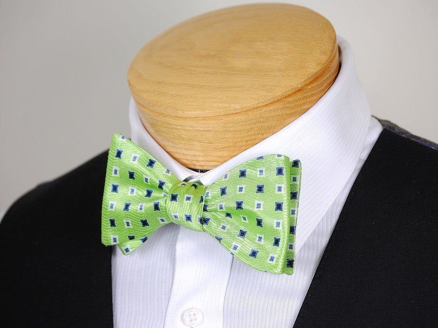 Boy's Bow Tie 16672 Green/Blue/White Neat Boys Bow Tie Heritage House