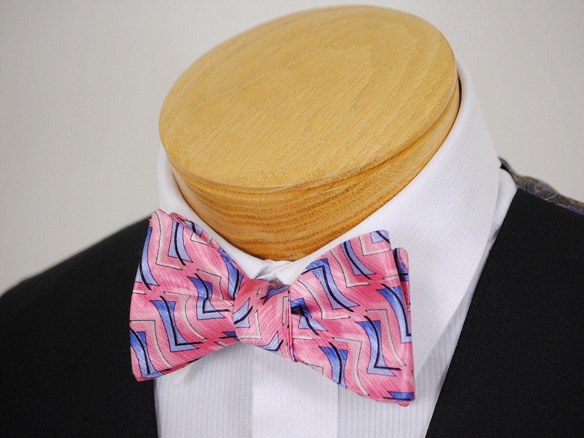 Boy's Bow Tie 16682 Pink/Blue Neat