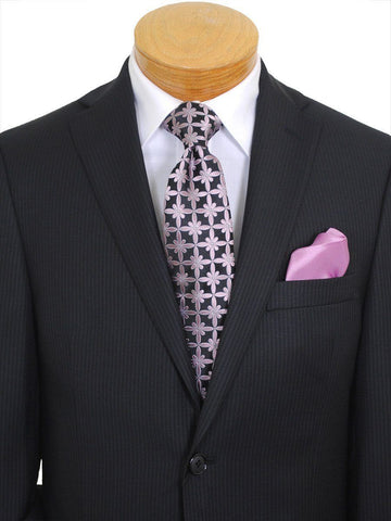 Image of Michael Kors 16779 Black Boy's Suit - Fine Line Stripe - 100% Tropical Worsted Wool - Lined Boys Suit Michael Kors