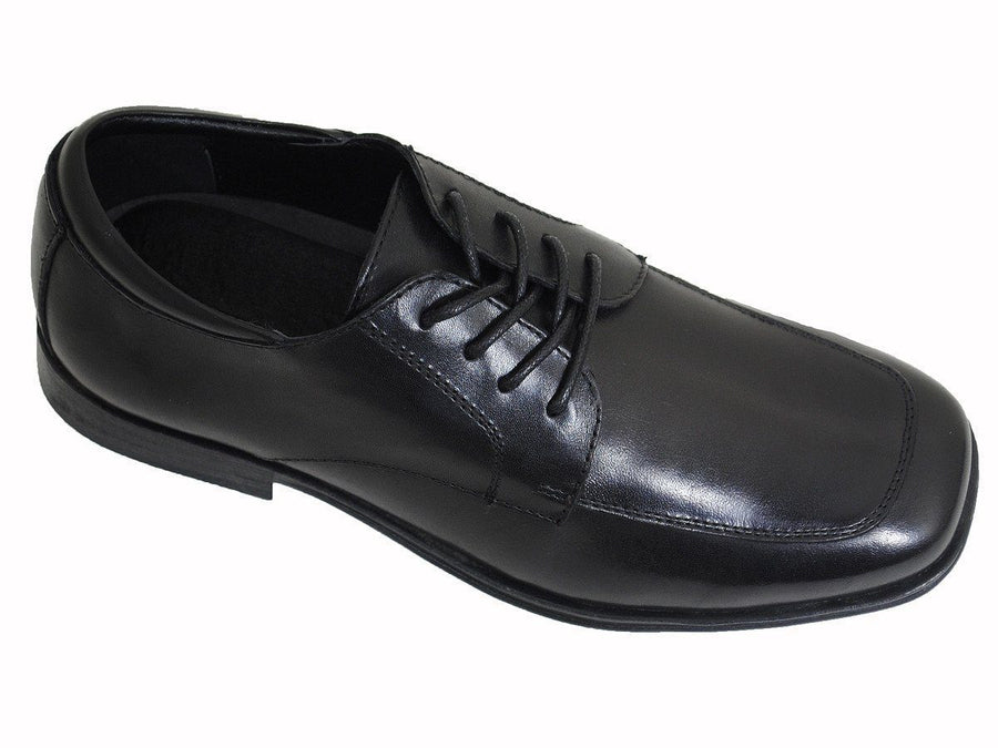 Kenneth Cole Reaction16964 Black Boy's Dress Shoes - Lace-Up - Moc Toe - Leather Boys Shoes Kenneth Cole