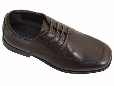 Kenneth Cole Reaction 16970 Brown Boy's Dress Shoes - Lace-Up - Moc Toe - Leather Boys Shoes Kenneth Cole