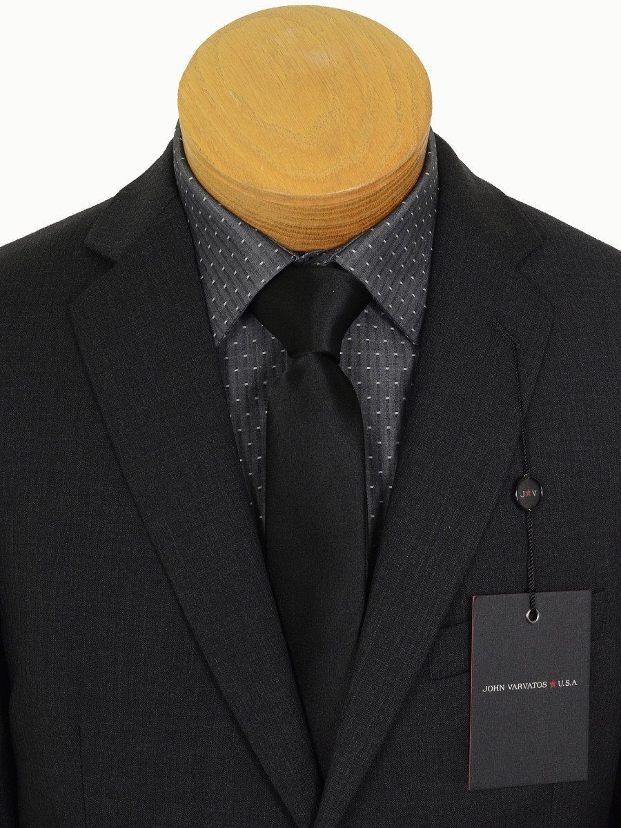 John Varvatos 17247 Charcoal Boy's Suit - Tonal Stripe - 100% Tropical Worsted Wool - Lined Boys Suit John Varvatos