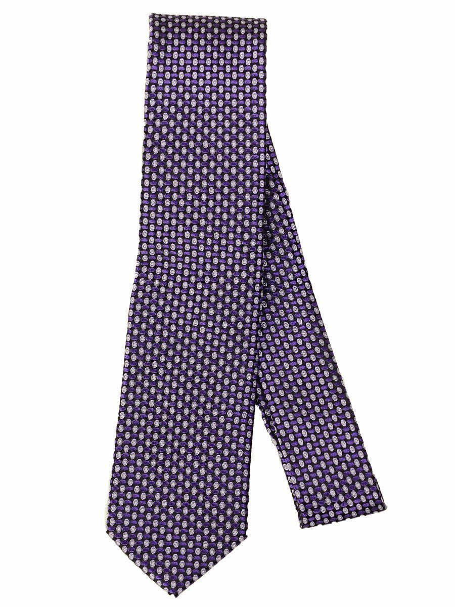 Heritage House 17259 100% Silk Woven Boy's Tie - Neat - Black/Purple, Skinny Boys Tie Heritage House