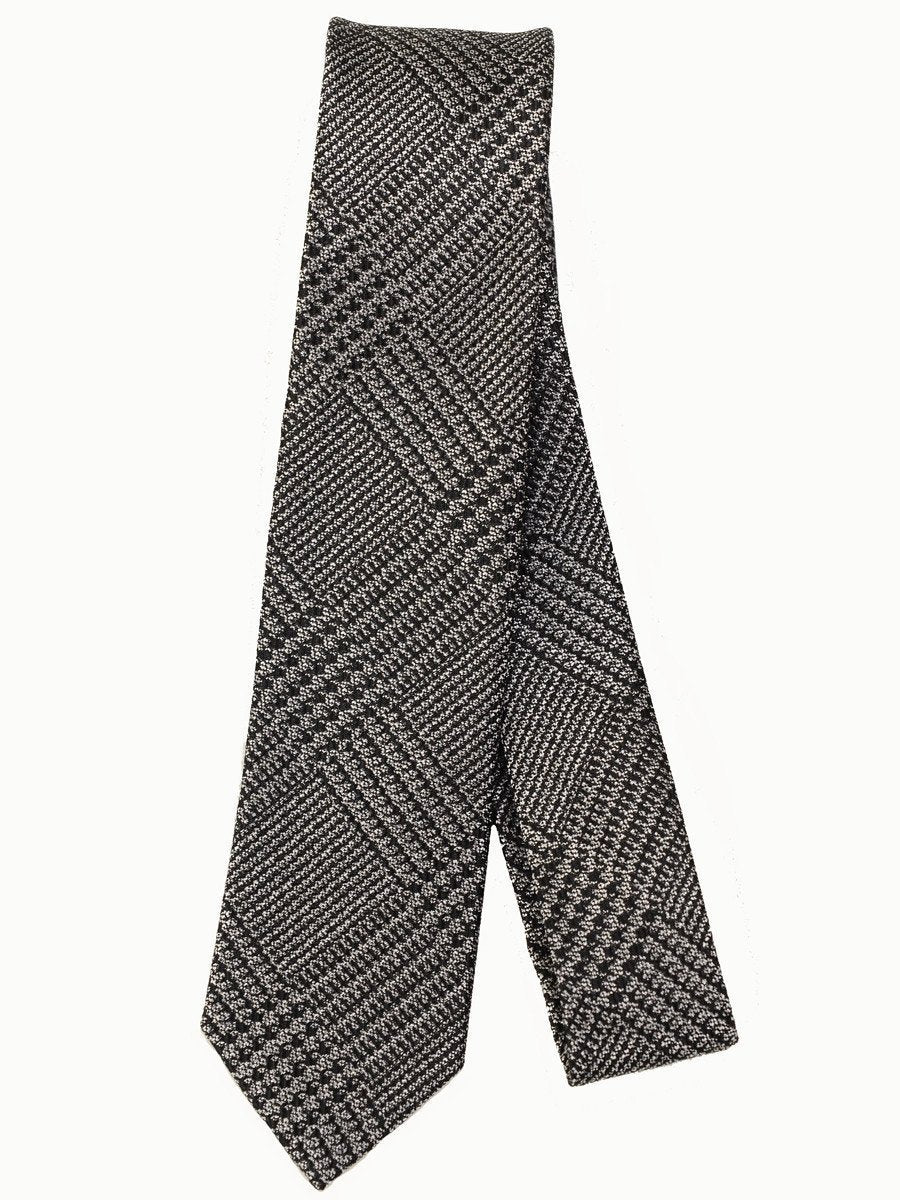 Heritage House 17270 100% Woven Silk Skinny Boy's Tie - Plaid - Black/Grey Boys Tie Heritage House