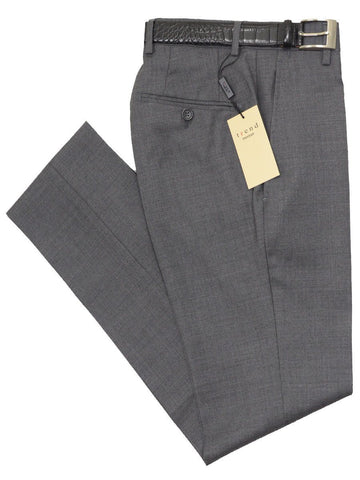 Trend by Maxman 17322P 100% Wool Young Men's Skinny Dress Pant - Solid Gabardine - Gray, Plain Front Young Mens Dress Pant Separate Maxman
