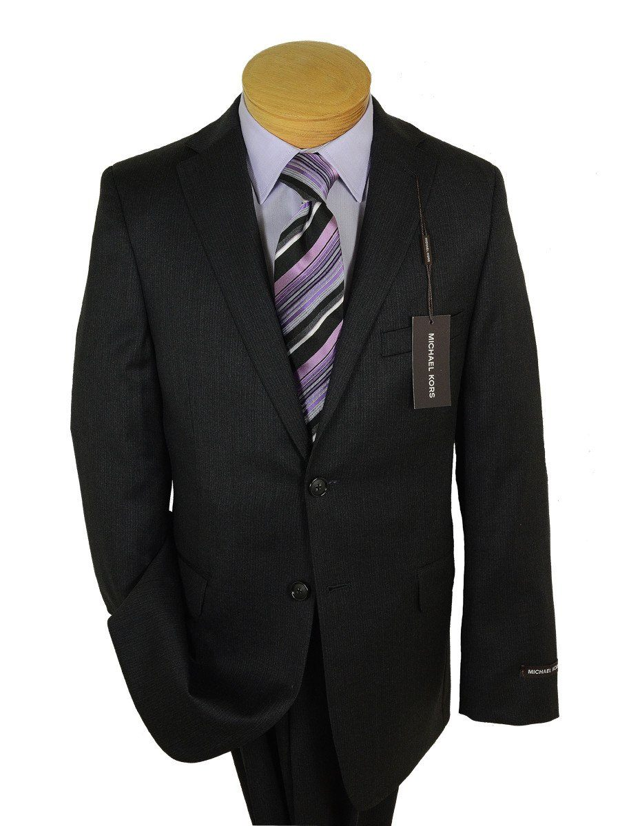 Michael Kors 17394 Charcoal Boy's Suit - Tonal Stripe - 100% Tropical Worsted Wool - Lined from Boys Suit Michael Kors