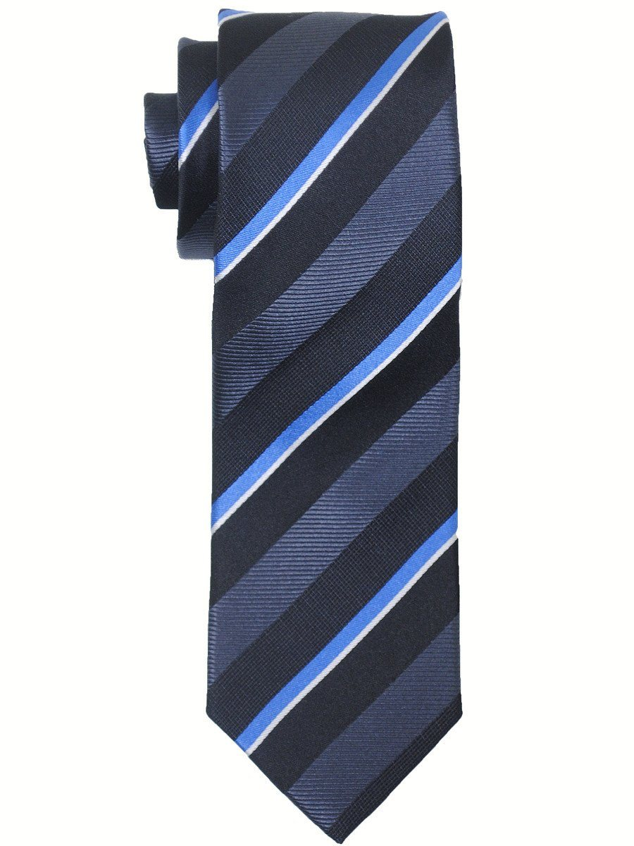 Boy's Tie 17450 Black/Charcoal/Blue Boys Tie Heritage House