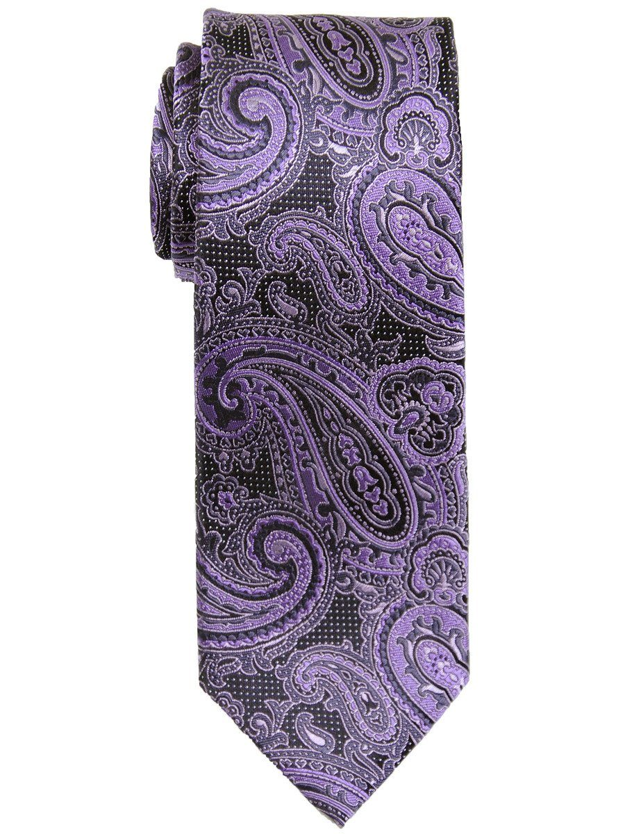 Boy's Tie 17481 Purple/Grey/Black Boys Tie Heritage House