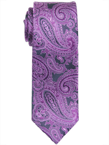 Heritage House 17484 100% Woven Silk Boy's Tie - Paisley - Fuschia/Black Boys Tie Heritage House
