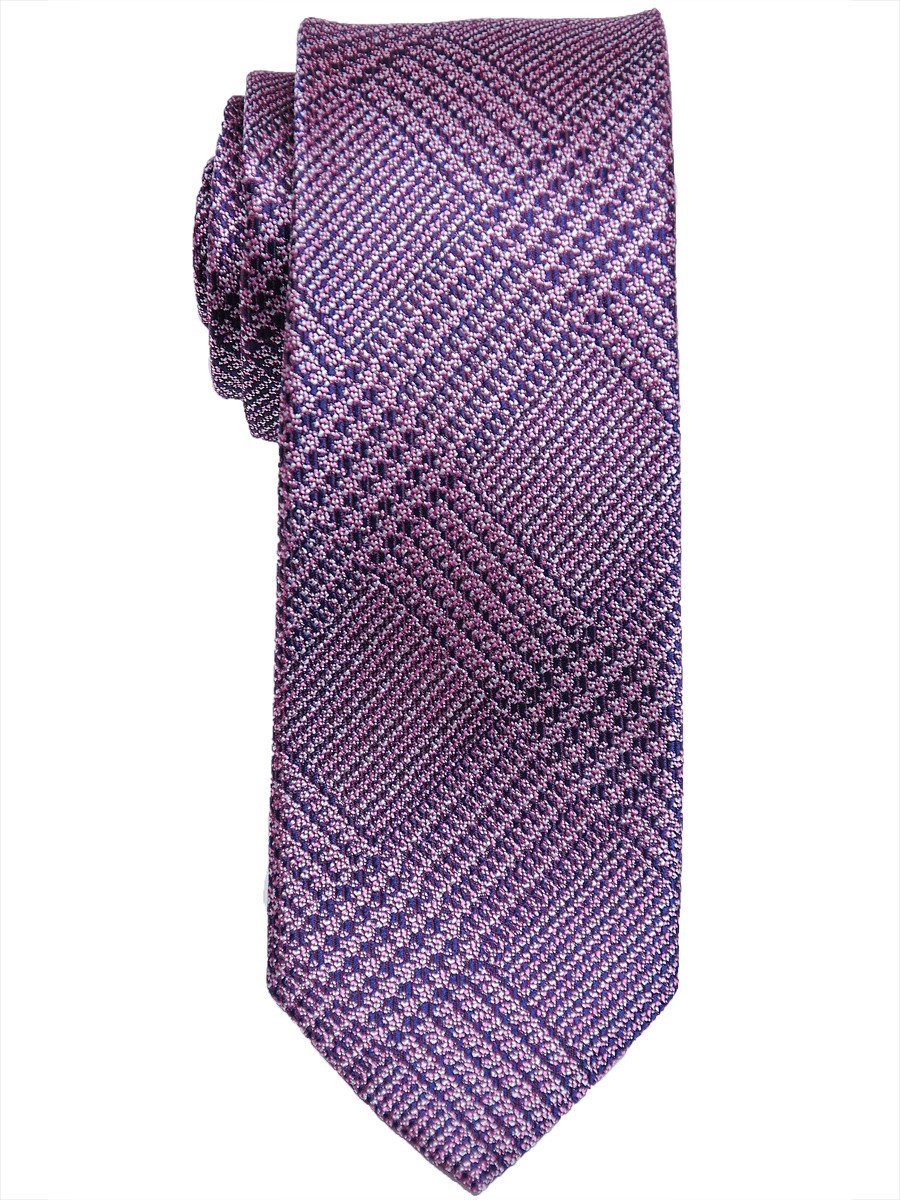 Heritage House 17509 100% Woven Silk Boy's Tie - Neat - Pink/Navy Boys Tie Heritage House