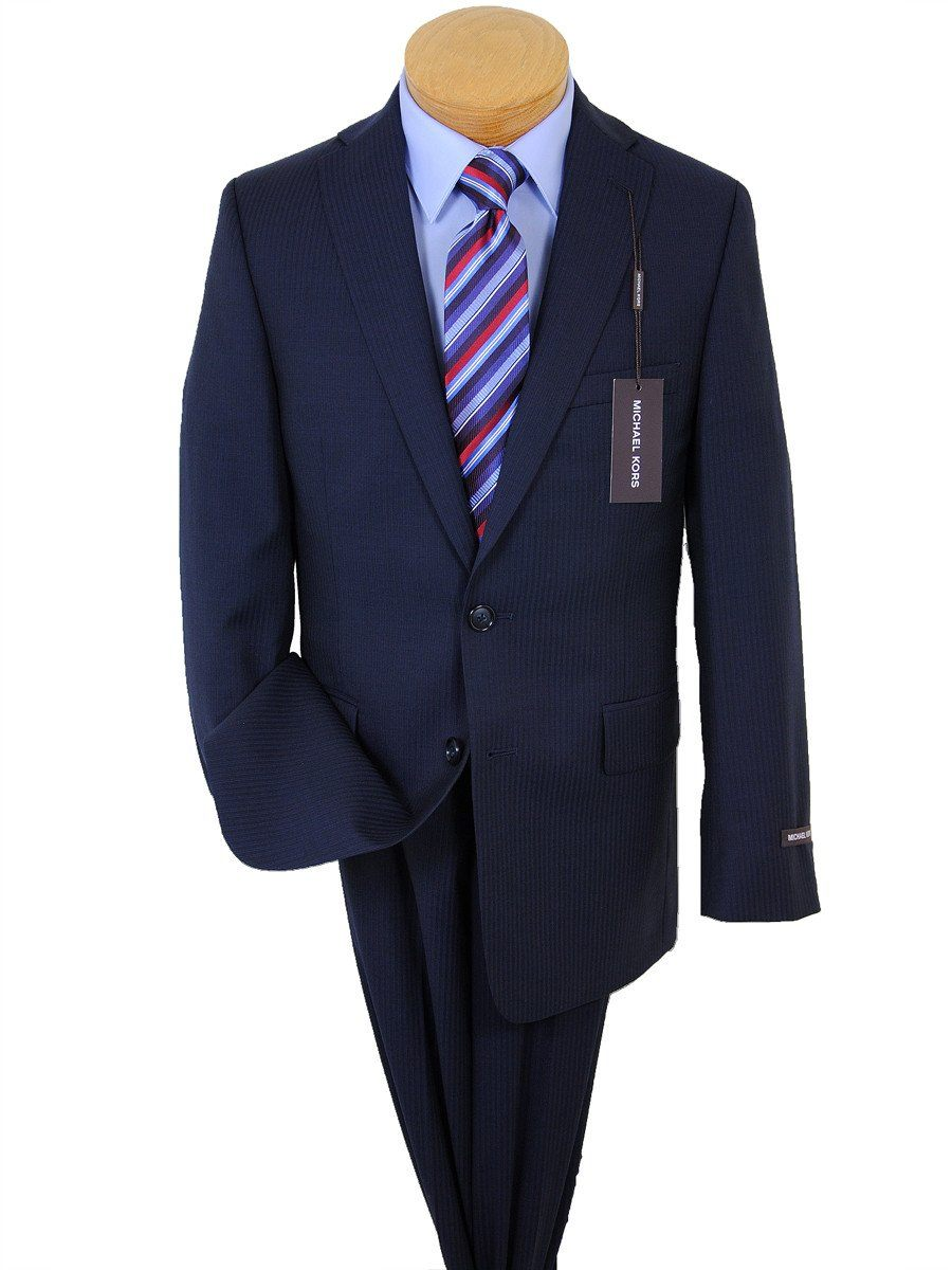 Michael Kors 17531 Navy Boy's Suit - Tonal Stripe - 100% Tropical Worsted Wool - Lined Boys Suit Michael Kors
