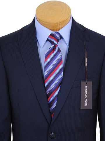 Image of Michael Kors 17531 Navy Boy's Suit - Tonal Stripe - 100% Tropical Worsted Wool - Lined Boys Suit Michael Kors