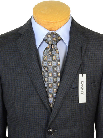 Image of DKNY 17651 Charcoal / Blue Boy's Sport Coat - Check - 100% Tropical Worsted Wool Boys Sport Coat DKNY