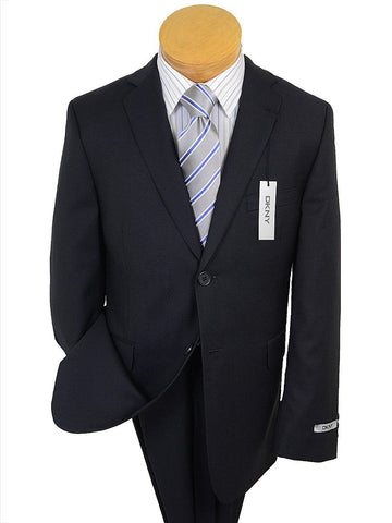 Image of DKNY 17672 Navy Boy's Suit - Fine Line Stripe - 100% Tropical Worsted Wool Boys Suit DKNY