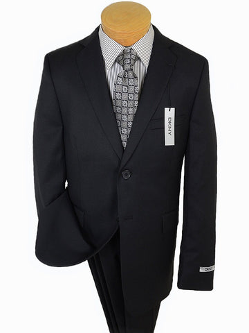 Image of DKNY 17697 Black Boy's Suit - Tonal Herringbone - 100% Tropical Worsted Wool - Lined from Boys Suit DKNY