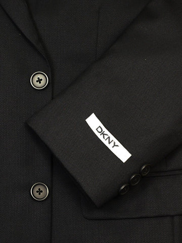 DKNY 17697 Black Boy's Suit - Tonal Herringbone - 100% Tropical Worsted Wool - Lined from Boys Suit DKNY