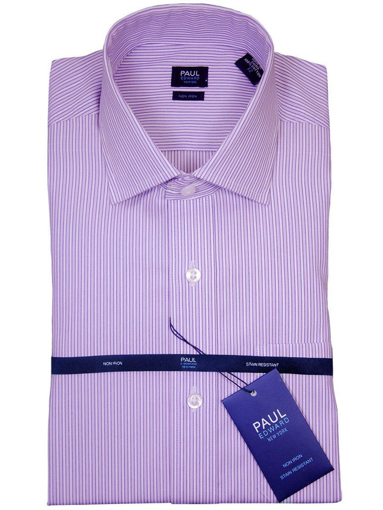Paul Edward 17749 100% Cotton Boy's Dress Shirt - Stripe - Lilac, Long Sleeve Boys Dress Shirt Paul Edward