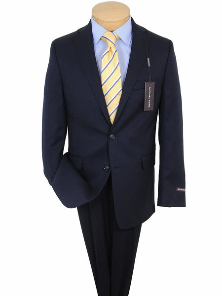 Michael Kors 17772 100% Tropical Worsted Wool Boy's Suit Separate Jacket  - Solid Gabardine - Navy, 2-Button Single Breasted
