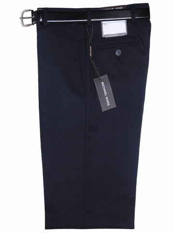 Michael Kors 17772P 100% Tropical Worsted Wool Boy's Pant - Solid Gabardine - Navy, Plain Front Boys Suit Separate Pant Michael Kors