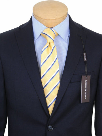 Image of Michael Kors 17772 100% Tropical Worsted Wool Boy's Suit Separate Jacket - Solid Gabardine - Navy, 2-Button Single Breasted Boys Suit Separate Jacket Michael Kors