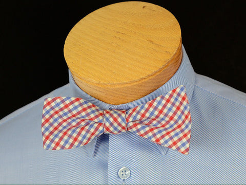 Boy's Bow Tie 17807 Red/Blue Check Boys Bow Tie High Cotton