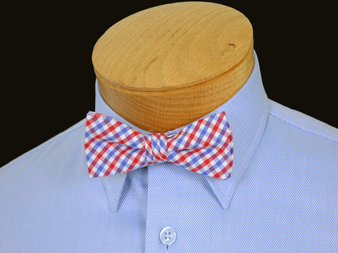 Boy's Bow Tie 17813 Red/Blue Check Boys Bow Tie High Cotton