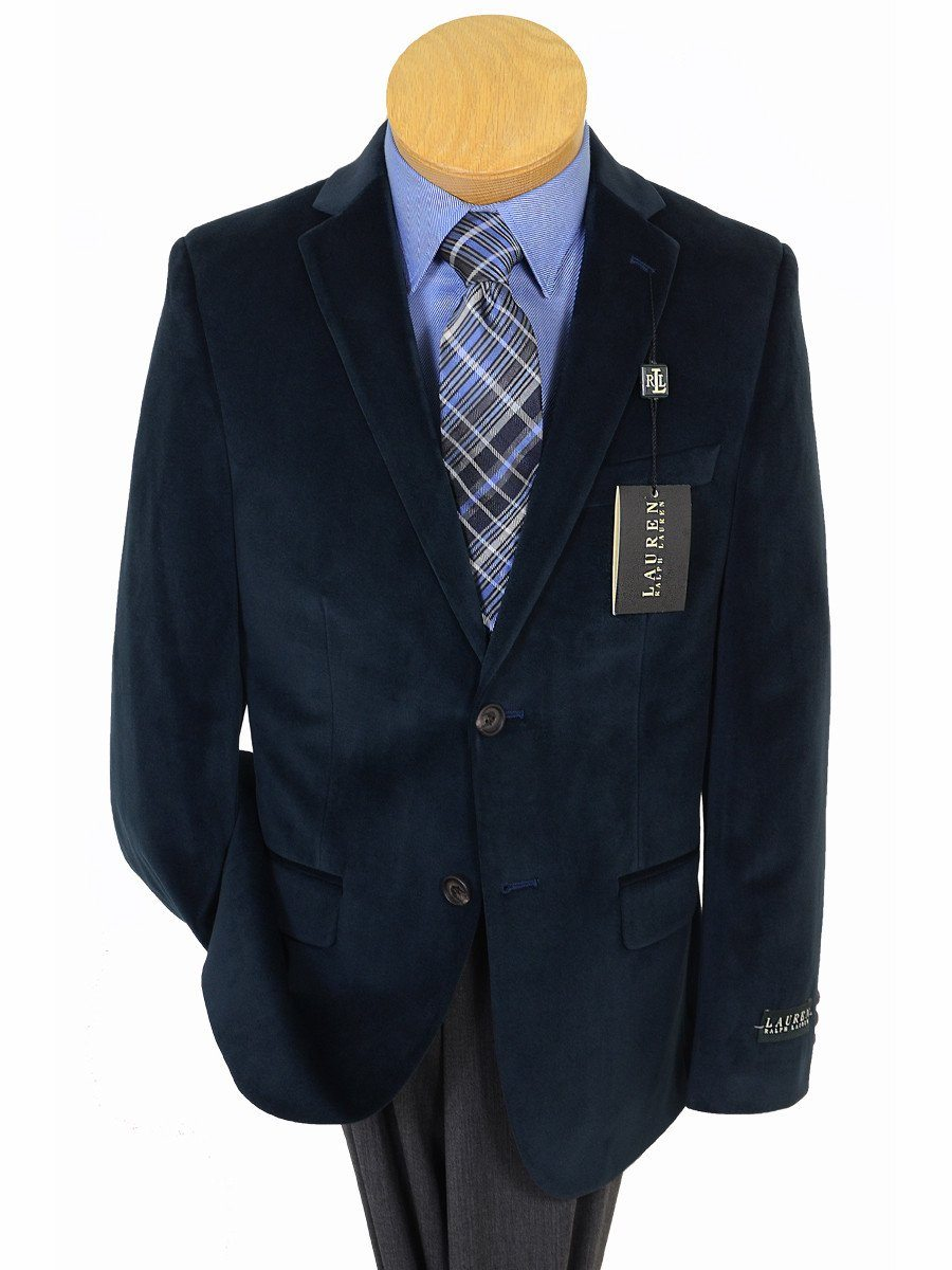 Lauren Ralph Lauren 17892 Navy Boy's Sport Coat/ Jacket - Velvet - 100% Polyester Boys Sport Coat Lauren