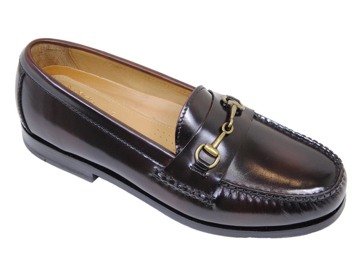 Cole Haan 18093 100% Leather Boy's Shoe - Penny Bit Loafer - Mahogany