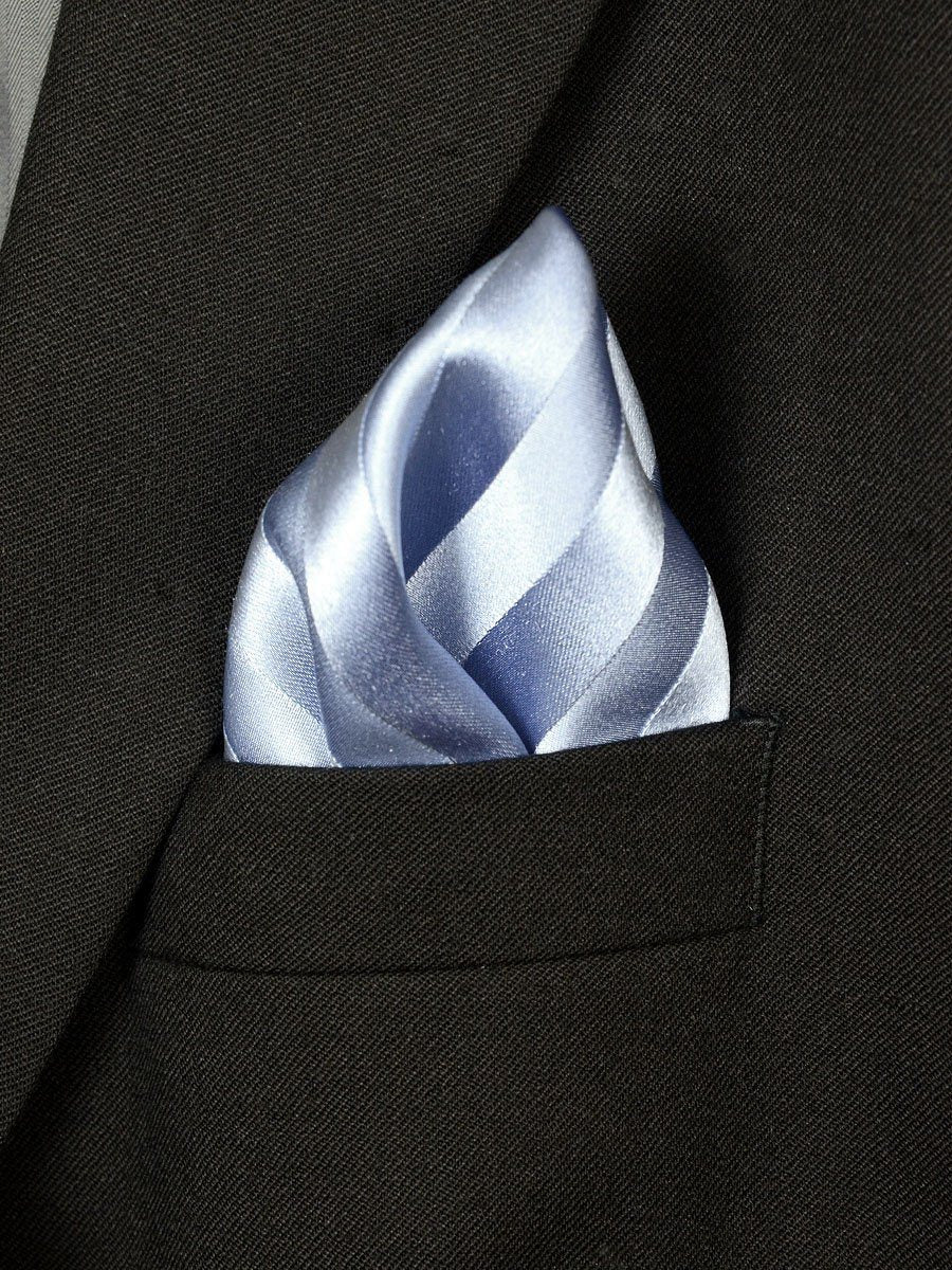Boy's Pocket Square 18231 Sky Tonal