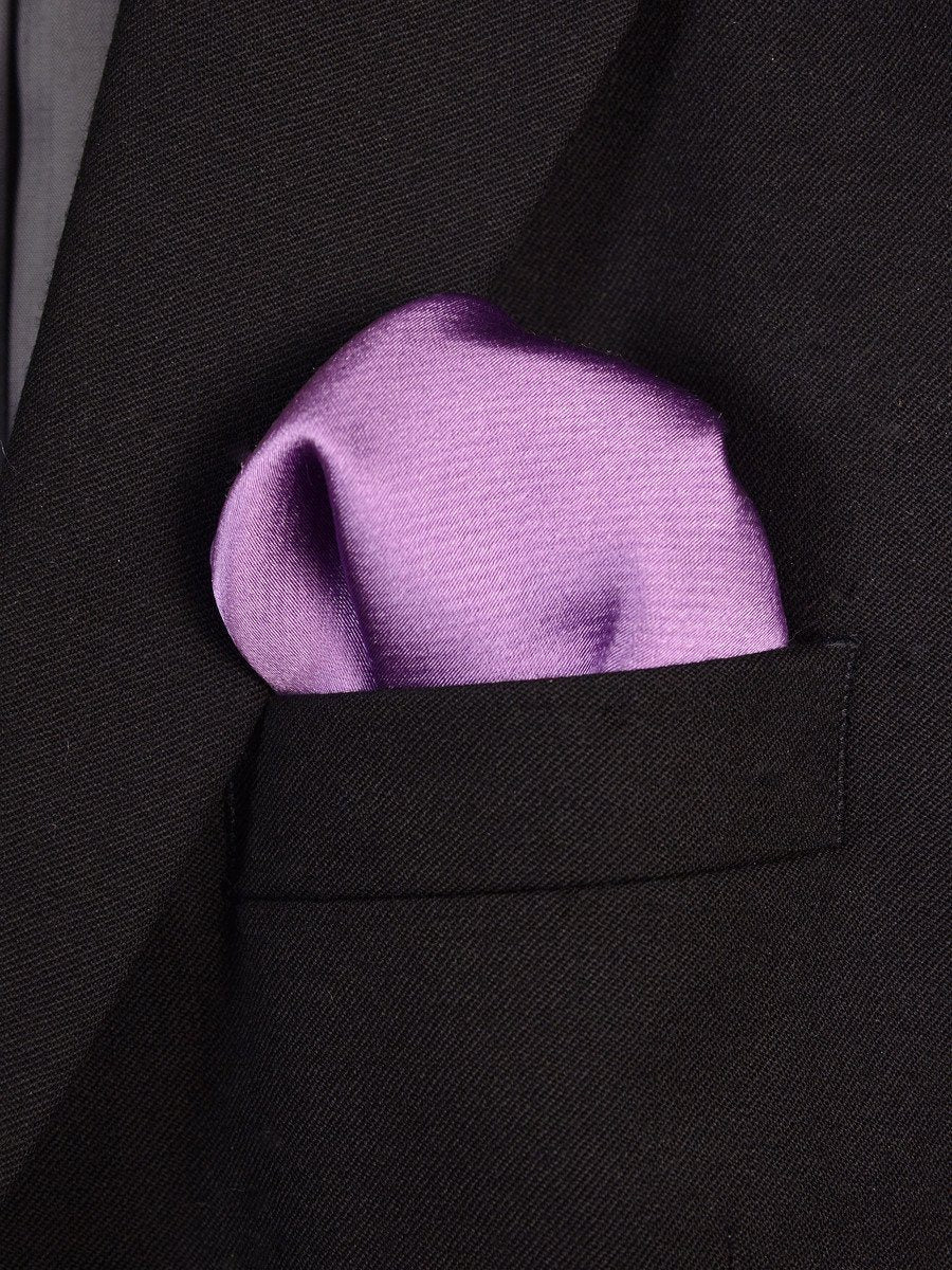 Boy's Pocket Square 18239 Purple Solid