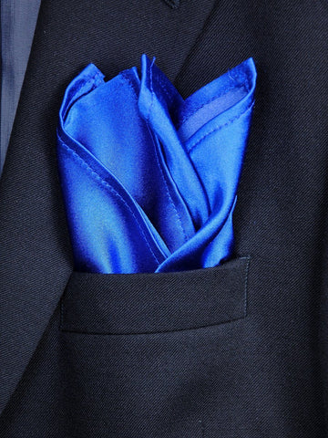 Boy's Pocket Square 18240 Royal Solid Boys Pocket Square Heritage House