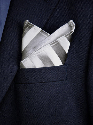 Boy's Pocket Square 18243 Silver Tonal Boys Pocket Square Heritage House