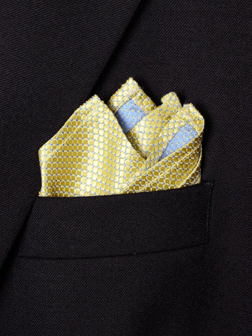 Boy's Pocket Square 18244 Yellow Neat Boys Pocket Square Heritage House