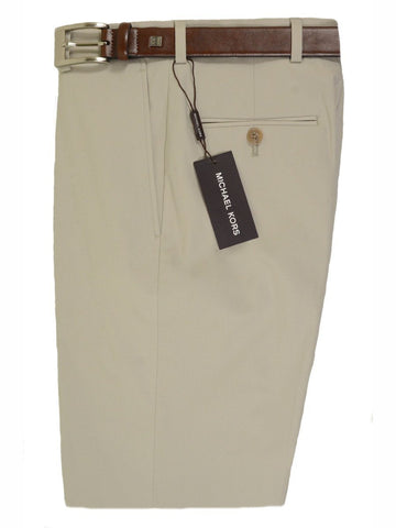 Michael Kors 18468 97% Cotton / 3% Spandex Boy's Pant - Cotton Poplin - Khaki, Plain Front Boys Casual Pant Michael Kors